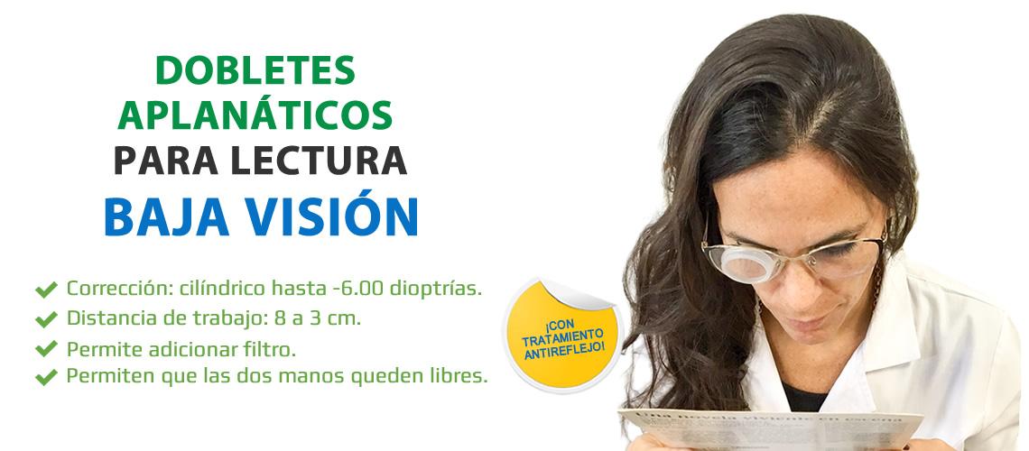 Dobletes Aplanáticos para Lectura en Baja Visión - Kibovisión